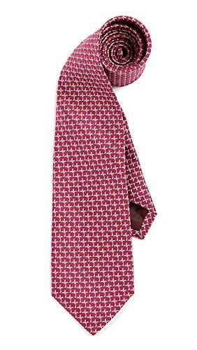 (Salvatore Ferragamo Men's Palm Print Tie, Berry, One Size )