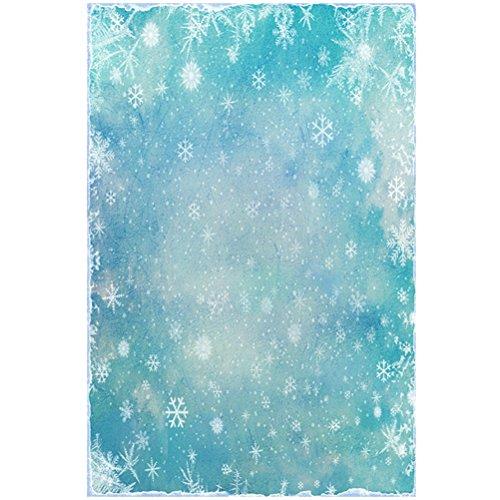 (LEDMOMO Photo Studio Background Cloth Photography Background Wall Snowflakes Props for Wedding,Decoration,Ceremony 100 x 150cm (DZ-839))