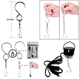 Smooth Spinning Swivel Clip Hanging S Hooks Wind Spinner Rotate Spiral Tail Crystal Twister Display Hanger (4)