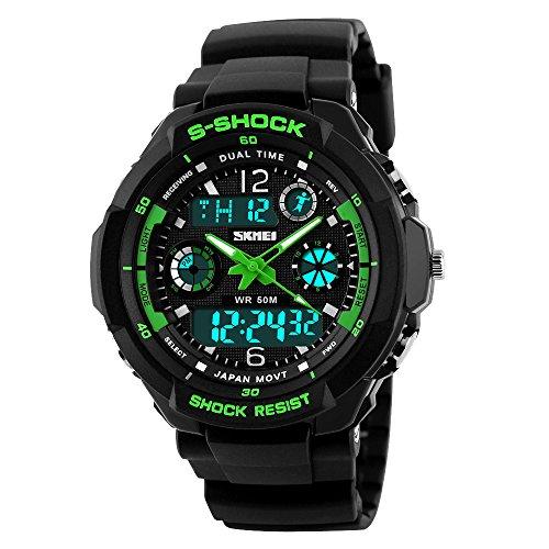 Kid Watch Multi Function Digital LED Sport 50M Waterproof Electronic Analog Quartz Watches for Boy Girl Children...
