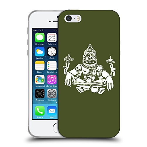 GoGoMobile Coque de Protection TPU Silicone Case pour // Q09550605 Hindou 9 armée verte // Apple iPhone 5 5S 5G SE