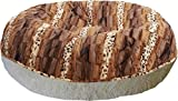 BESSIE AND BARNIE 24-Inch Bagel Bed for Pets, X-Small, Blondie/Wild Kingdom