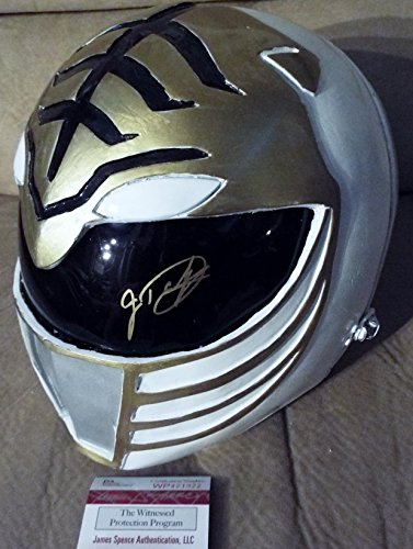 Jason David Frank Signed Power Rangers White Power Ranger Full Size Prop Helmet...JSA COA (Power Rangers Helmet)