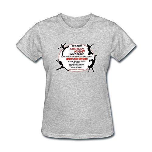 Kettyny Women's American Ninja Warrior Design Cotton T Shirt