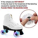 8 Piece LED Light up Roller Skate Wheels Luminous