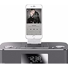 [iCablezTM USA] White iPhone 6+ 6s+ 7+ plus , 8Pin to 30 Pin 3.5mm Audio Connector / Adapter / Converter for Audio Bose ihome Docking stations, Charging and Syncing Generic