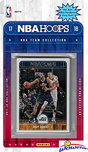 fan products of Utah Jazz 2017/18 Panini Hoops NBA Basketball EXCLUSIVE Factory Sealed Limited Edition 9 Card Team Set with Donovan Mitchell ROOKIE, Rudy Gobert,Dante Exum & More! Shipped in Bubble Mailer! WOWZZER!