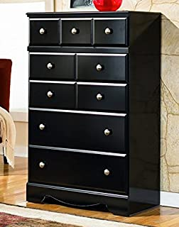 Ashley Furniture Signature Design   Shay Chest Of Drawers   5 Drawer Dresser    Almost Black