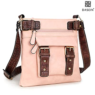 Dasein Top Belted Crossbody Bags for Women Soft Leather Messenger Bag Shoulder Bag Travel Purse