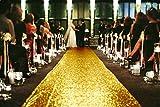 ShinyBeauty Aisle Runner-Gold-55FTX3FT,Sparkle Wedding Aisle Runner Carpet,Personalized Aisle Runner Tape(660x36-Inch)