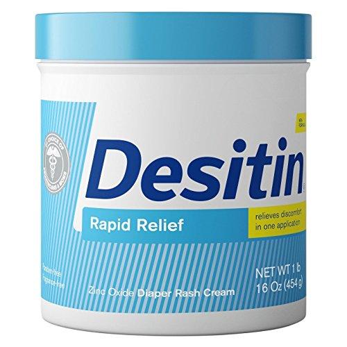 DESITIN Rapid Relief Diaper Rash Cream 16 oz (Pack of 2)