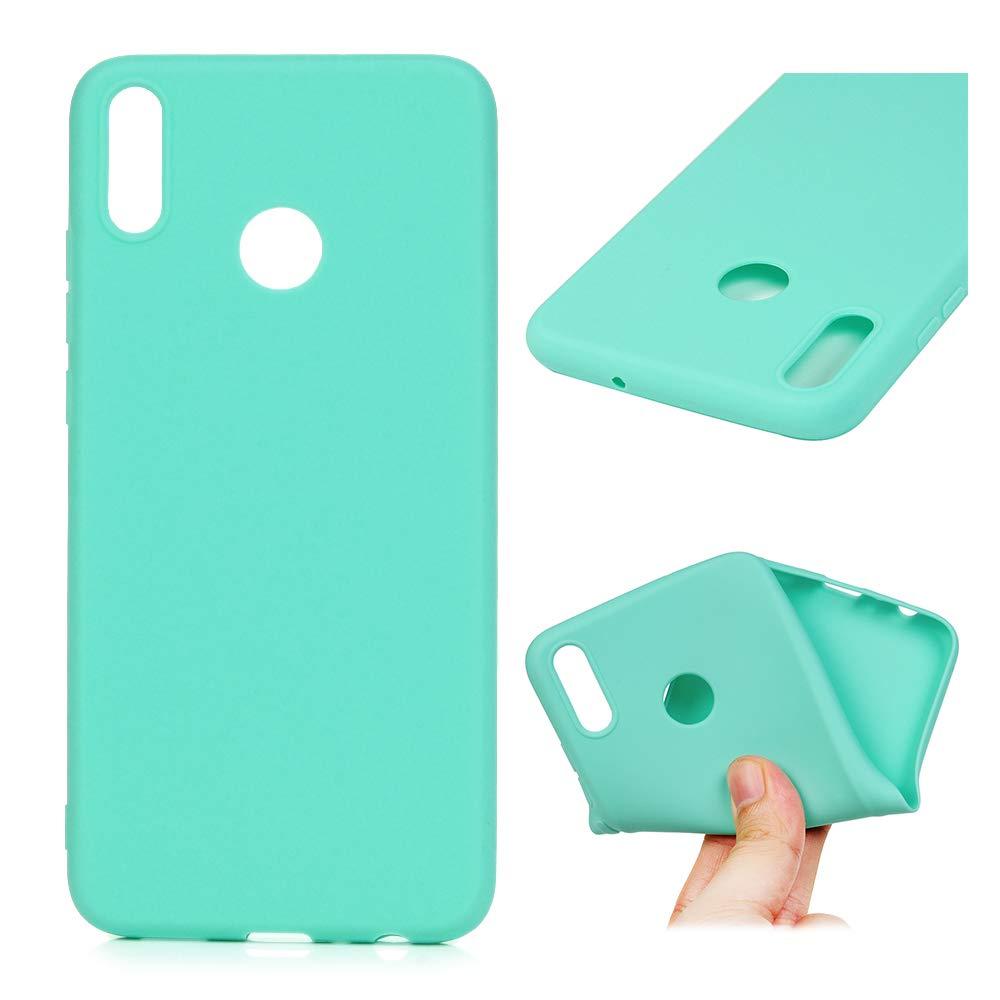 Coque pour Huawei Honor 8X LANVY Housse É tui TPU Silicone Souple Coque Couleur Unie Cover Gel Doux Case Anti-dé rapante Coque Huawei Honor 8X Bumper Cover - Green