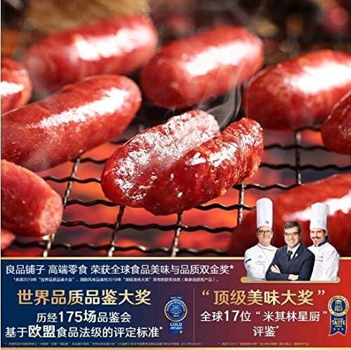 中国名物 おつまみ 大人気 良品铺子 迷你香肠烤肠 猪肉干 肉脯辣味小吃 网红零食145g(香辣脆骨味)