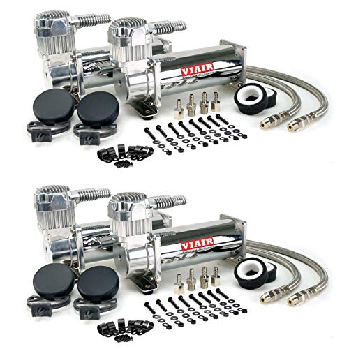 VIAIR 444C 200 PSI 3.5 CFM Dual Performance Electric Air Compressor Kit (4 Pack)