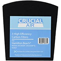 3 Crucial Air Replacement Carbon Filters for Hamilton Beach True Air Odors 04530GM 04532GM 04383 04531GM 04530F 04532GM 04251 04271 04530 04530F Part 04294