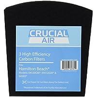 3 Crucial Air Replacement Carbon Filters for Hamilton Beach True Air Odors 04530GM 04532GM 04383 04531GM 04530F 04532GM 04251 04271 04530 04530F Part 04294