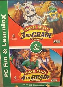Video Game Jump Start 3rd Grade Adventures & Jump Start 4th Grade Adventures Book