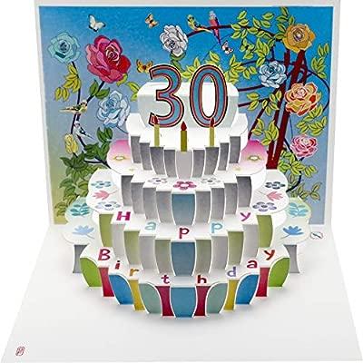 Laser Cut Pop Up Card 30th Birthday     POP45