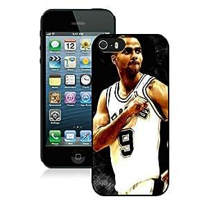 New Custom Design Cover Case For iPhone 5s Generation San Antonio Tony parker 3 Black Phone Case