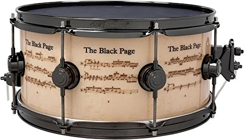 DW ''Collector's Series Icon Terry Bozzio ''''The Black Page'''' Snare Drum 14 x 6.5 in.'' by DW