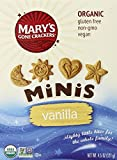 Mary's Gone Crackers Minis, Vanilla, 4.5 Ounce (Pack of 6)