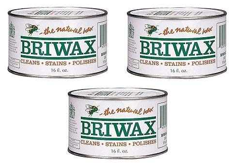 Briwax Furniture Wax Polish-Clear (Расk оf Тhrее) by  (Image #1)