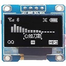 """cuiisw 0.96"""" Inch Yellow Blue White I2c IIC Serial Oled LCD LED Module 12864 128X64 for Arduino Display Raspberry PI 51 Msp420 Stim32 (White)"""