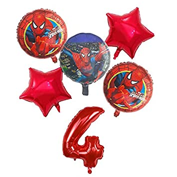 Amazon.com: Ramo de globos de Spiderman para cuarto ...