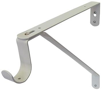 D.H.S. Adjustable Closet Rod U0026 Shelf Support Bracket   White   Set ...
