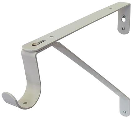 Adjustable Closet Rod U0026 Shelf Support Bracket   White   Set ...