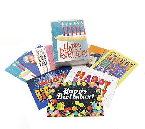 36 Pack of Birthday Card Assortment - 5x7 Cards - Boxed Set of 36 Cards & Envelopes Bulk Business Pack