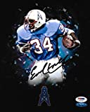 #9: Autographed Earl Campbell Picture - 8x10 COA 3 - PSA/DNA Certified - Autographed NFL Photos
