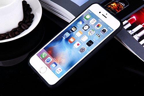 König-Shop Handy Hülle Mandala für Apple iPhone 8 Plus Design Case Schutzhülle Motiv Federn Totenkopf Cover Silikon Tasche Bumper Schwarz