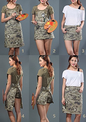CyberDyer Male Female Tactical Working Apron with Tool Pockets Suitable for Outdoor Picnic and Daily Repair Work (Desert Camouflage) by CyberDyer (Image #7)