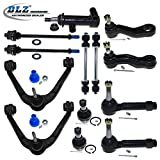 DLZ 13 Pcs Front Kit-Upper Control Arm Lower Ball Joint Tie Rod End Sway Bar Pitman Arm Idler Arm Idler Arm Assembly Compatible with Chevrolet Silverado GMC Sierra 1500 GMC Yukon Chevrolet Tahoe K8987
