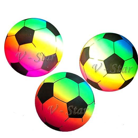 "9/"" Rainbow Stars /& Moons Ball Deflated In Net Bag"
