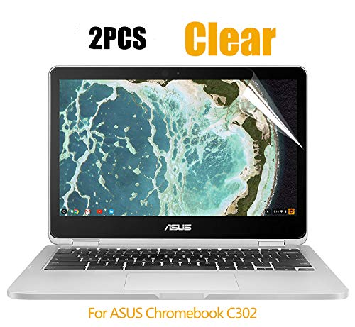 CaseBuy [2PCS Pack] ASUS Chromebook Flip 12.5 Screen Protector, HD Clear Whole Screen Protective Film for ASUS Chromebook Flip C302CA-DHM4 12.5-inch Touchscreen, 2-Piceces/Pack