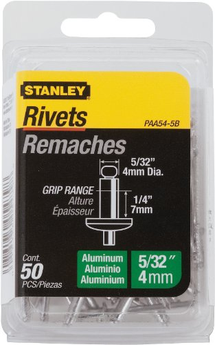 Stanley Paa54-5B Aluminum Rivets, 5/32 Inch X 1/4 Inch, Pack of 50 ()