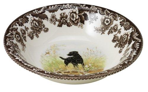 Spode Woodland Hunting Dogs Black Labrador Cereal Bowl