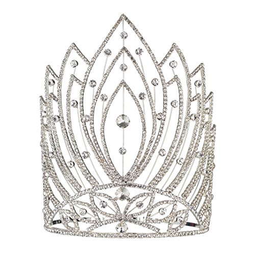 Fufeng Crown Starry Rhinestone Beauty Queen Crowns And Tiaras 9