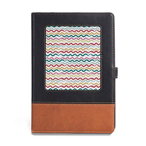 Damask Flush (Thick Notebook,Striped Decor,A5(6.1