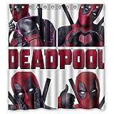 X Men Cool Poses Deadpool Custom Design Waterproof Shower Curtain Bathroom Curtains 60x72 inches