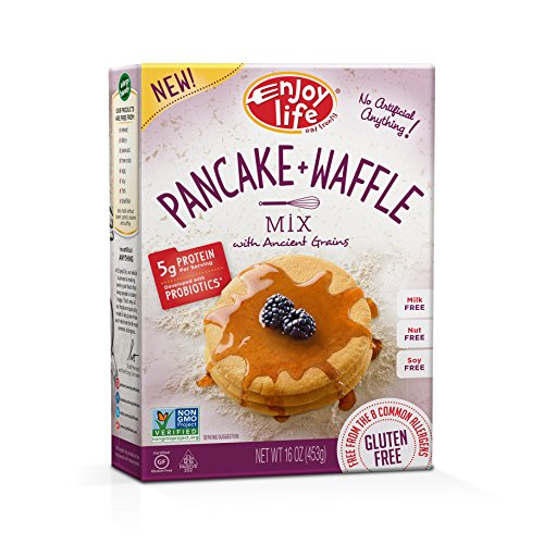 Enjoy Life Baking Mixes, Soy-free, Nut-free, Gluten-free, Dairy-free, Non-GMO, Vegan, Pancake + Waffle Mix, 16 Ounce (Food For Life Bread)