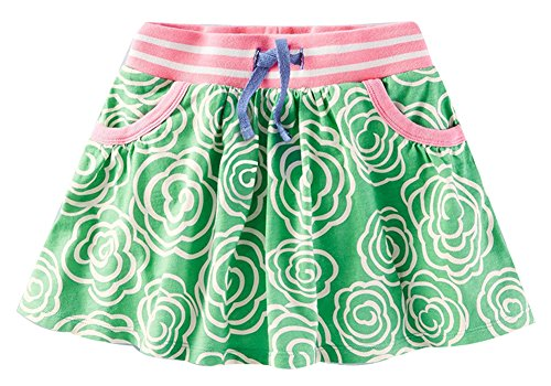 Fiream Girls Summer Cotton Water Printing Beach Skirt(S0169,18M) by Fiream