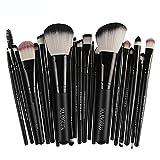 Hot,Yang-Yi 2018 Women 22pc Beauty Cosmetic Makeup Brush Blusher Eye Shadow Brushes Set Kit (Black -B, 22pcs)