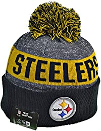 Pittsburgh Steelers Youth NFL Youth Knit Pom Winter Beanie Black/Yellow 11289594