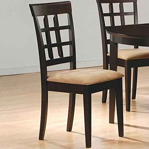 Wheat Back Chair - Side Chair with Wheat Back Design (Set of 2) in Rich Cappuccino - Coaster