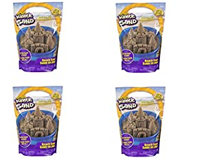 Kinetic Sand The One and Only, 3lbs Beach Sand for Ages 3 and Up (1 Pack) (4 Pack)
