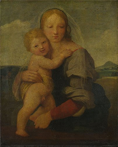 Oil painting 'Raphael The Madonna and Child (The Mackintosh Madonna) ' printing on polyster Canvas , 20 x 25 inch / 51 x 63 cm ,the best Living Room gallery art and Home artwork and Gifts is this Imitations Art DecorativeCanvas Prints -