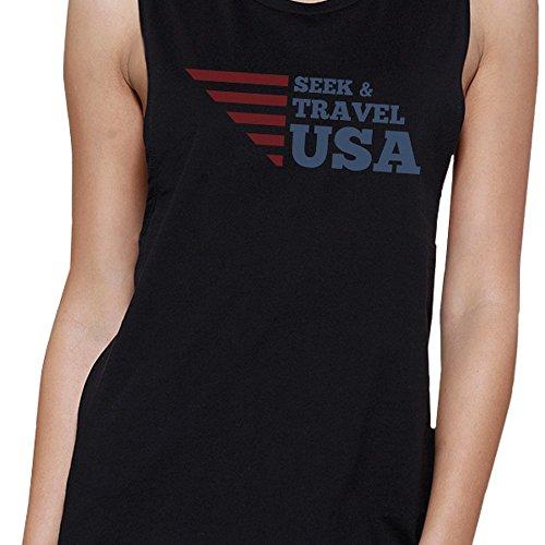 Travel Seek One Usa Print Size Sleeveless Women Sweater 365 aw0q7Y1R